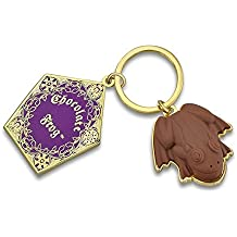 Chocolate Frog Keyring Keychain Harry Potter smells just like chocolate from Studio Tour London Merchandise, Perfect gift for man, women, girls or boys. Key chain key ring is a great present for kids. The emblem is good for holidays like Christmas, birthdays. This keyychain real and feels real. Ideal for baby, Shower Gift. Well made movielike. Add to your keys, school bag, handbag and many more. Great gift idea.
