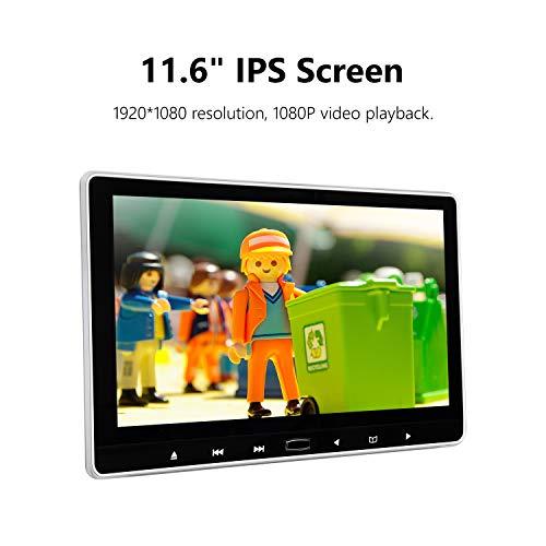 eonon L0318 11,6 Zoll 1080P IPS HD Digital Multimedia Super Thin Auto Kopfstütze Monitor DVD Player mit HDMI Fernbedienung USB SD (Flüssige Video-dvd-player)