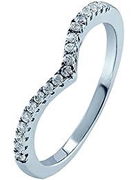 0.25Ct Diamond Curved Wishbone Half Eternity Ring - Customize and Buy