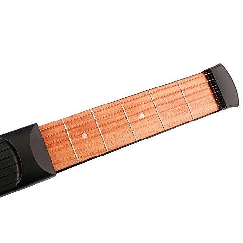 Guitarra de madera bolsillo guitarra portátil herramienta de la práctica Gadget para principiantes Chord Trainer # 81073