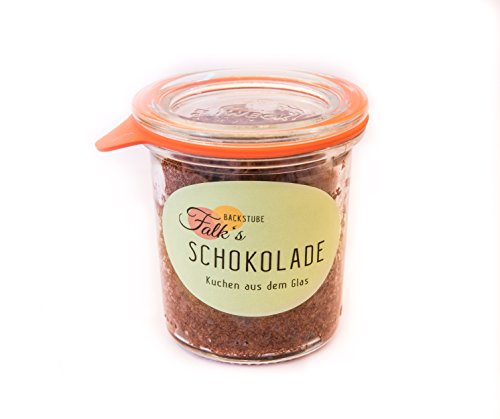 3 Stück SCHOKO-KUCHEN im Glas (3 mal 140ml) (85-kuchen-deckel)