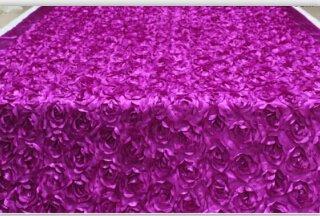 GRENSS 10 Meter Rose Rot lange Billig Floral VIP-Hochzeit Requisiten Gang Teppich Läufer für kirchliche Hochzeit Stadium T station Teppich Großhandel, Lila, 140 cm BREITE X 10 MTR. - Hochzeit Läufer Gang Rot
