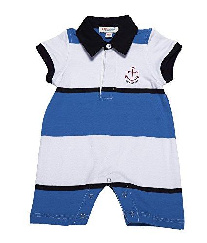 oceankids-neonati-maschi-infant-tuta-capispalla-stripe-con-polo-collare-blu-bianco-9m-6-9-mesi