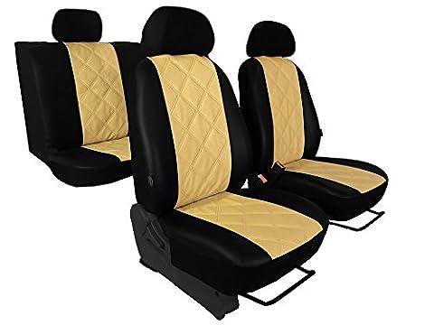 Matelassé pour VW Golf V Plus Housse de siège en cuir éco avec Diagonal-assise en 5couleurs