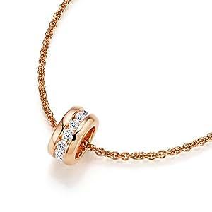 Spirit - New York Damen-Anhänger Silber vergoldet rhodiniert Zirkonia weiß Brillantschliff - 99004297430