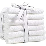Fresh from Loom Towel for face 6 Piece 450 GSM Cotton Face Towel Set - White