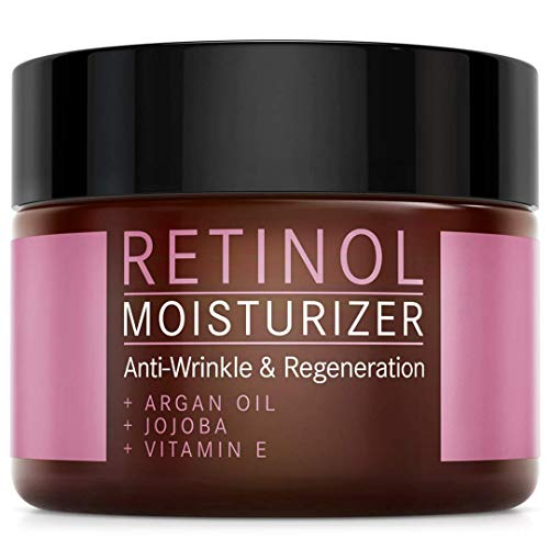 Retinol Creme Moisturizer mit Arganöl, Jojoba und Vitamin E - NATURKOSMETIK VEGAN - 50 ml made in Germany by Mother Nature - feuchtigkeitsspendende Anti-Aging Pflege gegen Falten und Pigmentflecken