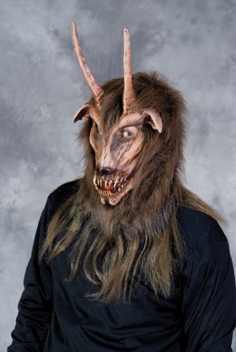 (Krampus Goat Overhead Costume Mask Adult One Size)