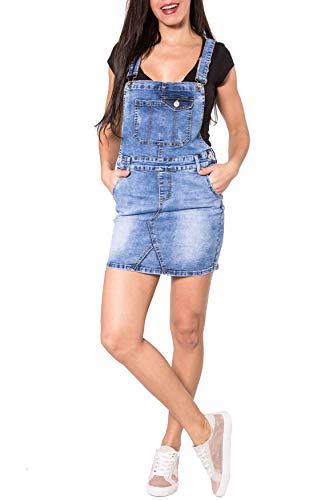 the latest 46d51 20562 EGOMAXX Gonna Jeans Donna con Salopette in Denim Mini Salopette