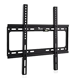 telmu ultra plat support mural tv pour 66 140 cm 26 55. Black Bedroom Furniture Sets. Home Design Ideas