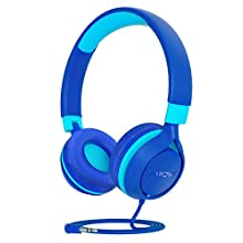 Kids Headphones, MPOW CH E1 Wired Headphones for Kids Teens, Children Headphones with Volume Limit, Foldable Adjustable On-ear Headphones for School,Travel, Compatible with Cellphones, Tablets, PC