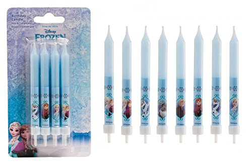 Lot de 8 bougie Frozen - La Reine des Neiges - Anniversaire Décoration Gâteau - 052