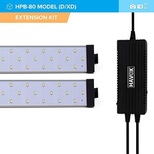 HAVOX - Fotostudio HPB Serie - Maße 40cm/60cm/80cm - LED-Beleuchtung Tageslicht 5500k - 13,000 Lumen - CRI 93 - Machen Sie Ihre kommerziellen Fotos zu E-Commerce (HPB-80D Extra kit)