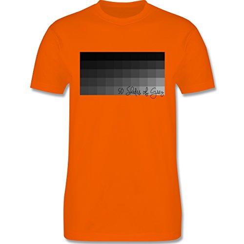 Statement Shirts - 50 Shades of Grey 50 Grauabstufungen - Herren Premium T-Shirt Orange