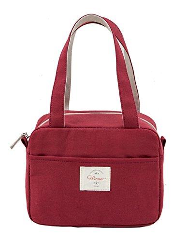 iSuperb Kühltasche Isoliert Lunch Taschen Mtagessen Tsche Lunch Bag Cooler Bag Wasserdicht (Rot)
