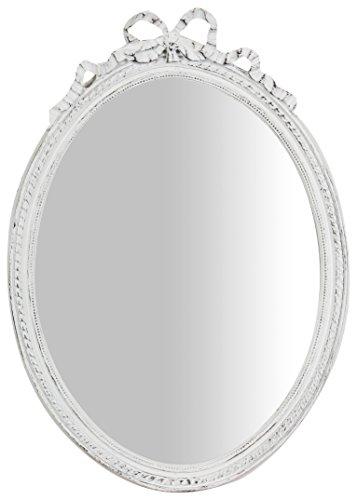 Specchio Specchiera da Appendere 36x3x50 cm in Resina Finitura Bianco Anticato