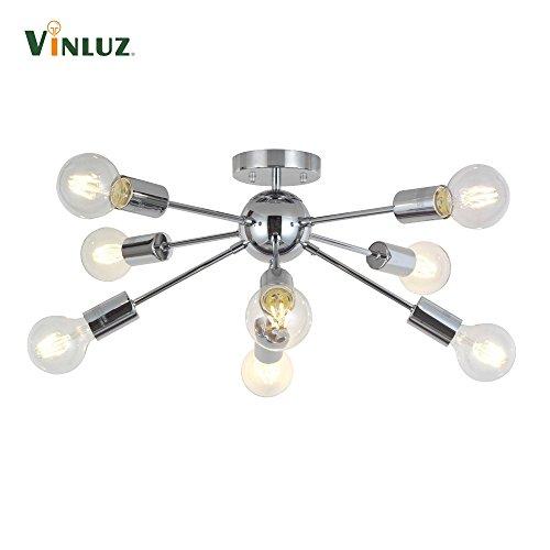 8-licht-esszimmer-kronleuchter (8-Licht Sputnik Licht Chrom Pendelleuchten Moderne Kronleuchter Beleuchtung Küche Badezimmer Esszimmer Schlafzimmer Flur)