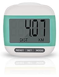 Incutex Schrittzähler Kalorienmesser, Pedometer mit LCD Display, Stepcounter, Schrittmesser