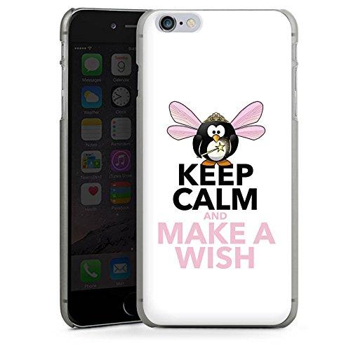 Apple iPhone X Silikon Hülle Case Schutzhülle Keep Calm Sprüche Wunsch Hard Case anthrazit-klar
