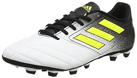 adidas Ace 17.4 Fxg, Chaussures de Football Homme, Jaune (Footwear White/Solar Yellow/Core Black), 48 EU