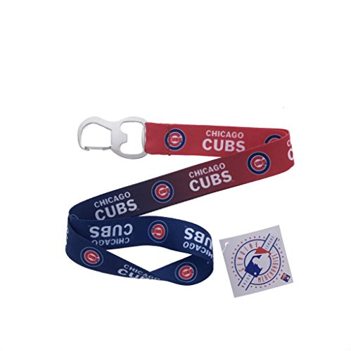 Sports Keychain Baseball Lanyard with Bottle Opener (Cubs)