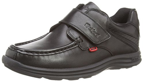 Kickers Boys' Reasan Strap School Shoes - Black (Black), 11 UK Child...