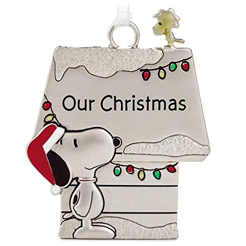Hallmark Peanuts Snoopy and Woodstock Charmers Our Christmas Metall-Ornament