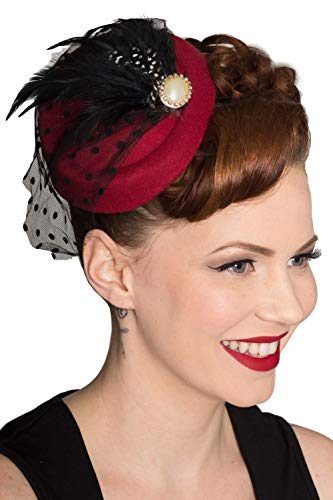 Dancing Days Vintage Retro 40er 50er Jahre Fascinator All A Dream Hochzeit Hut - ()