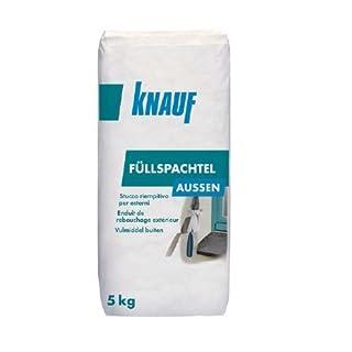 Knauf 4006379018505 Füllspachtel aussen, 5 kg, universeller Spachtel zum Ausbessern und Verfugen