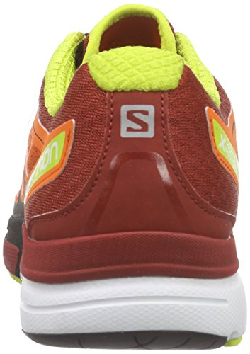 Salomon X-Scream 3D, Chaussures de Running Compétition Homme Rouge (Tomato Red/Flea/Gecko Green)