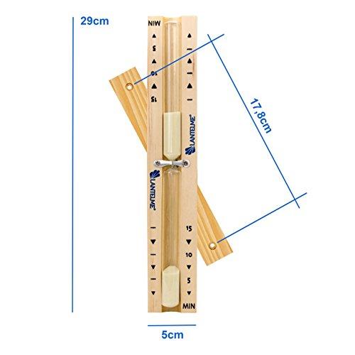 Sauna Holz Buche Sanduhr Analog 15 Minuten -
