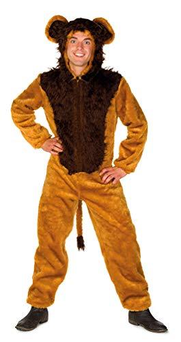Karneval-Klamotten Löwe Kostüm Erwachsene Löwe Herren-Kostüm Plüsch Größe 54