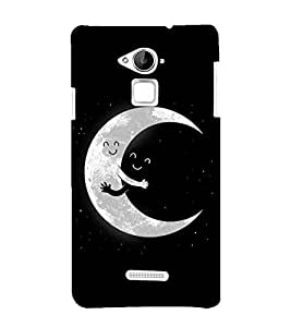 FUSON Moon Hug Night 3D Hard Polycarbonate Designer Back Case Cover for Coolpad Note 3