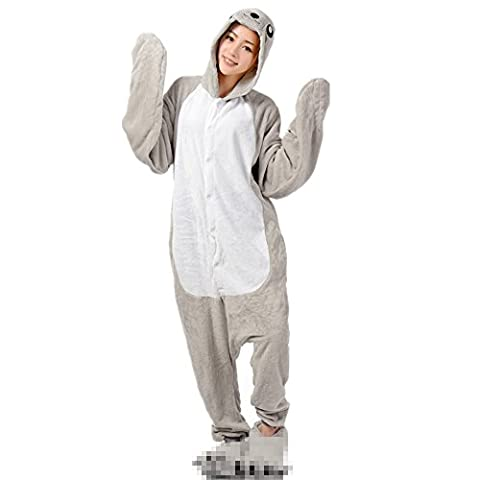 Jysport Licorne Pyjama Kigurumi Unisexe Animal Polaire à capuche Cosplay