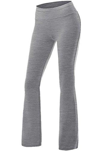 CROSS1946 Damen Yoga Lange Stretch Lagenlook Hose Grau Small