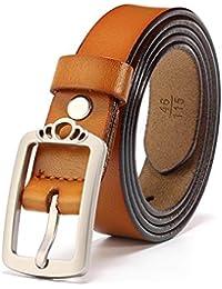 Hukangyu1231 Cinturon de Mujer Cinturón Decoración Moda Ocio Belt Buckle Cinturón de Cuero All-Match Retro Lady Cinturón para Mujer (tamaño : Metro)