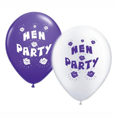 Pack of 10 White /& Red Hen Party Balloon//Balloons XBP509