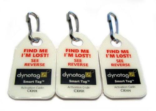 Price comparison product image Dynotag® Web/GPS Enabled QR Code Smart Micro Zipper Tags: 9 (3x3strip)+SnapHooks