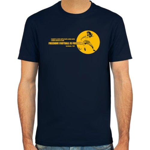 SpielRaum T-Shirt Bob Marley Zitat 1979 ::: Farbauswahl: schwarz, oliv oder navy ::: Größen: S-XXL ::: Fußball-Kult Schwarz