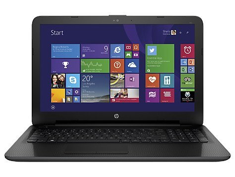 HP 255 G4 Notebook, Processore AMD E1-6010, HDD 500 GB, Memoria RAM da 4 GB, Scheda Video Radeon R2 GPU, CD-DVD, Nero