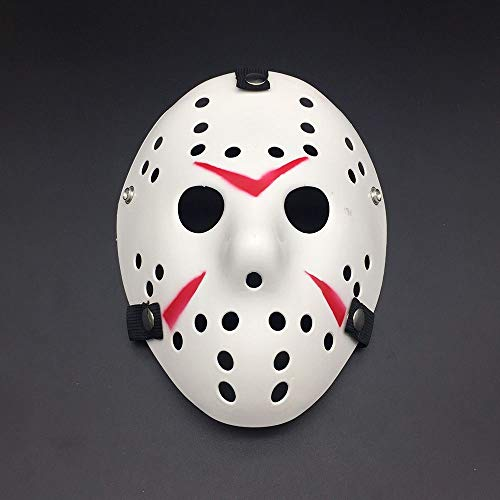 VAWAA Party Masken Jason Voorhees Beängstigend Prop Hockey Cosplay Gruselige Maske Freitag 13. Nizza (Gesicht Voorhees Jason)