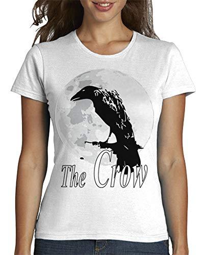 latostadora - Camiseta Manga Corta Negra para Mujer Blanco XL