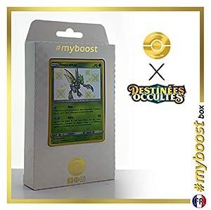Insécateur (Scyther) SV1/SV94 Variocolor - #myboost X Soleil & Lune 11.5 Destinées Occultes - Box de 10 cartas Pokémon Francés