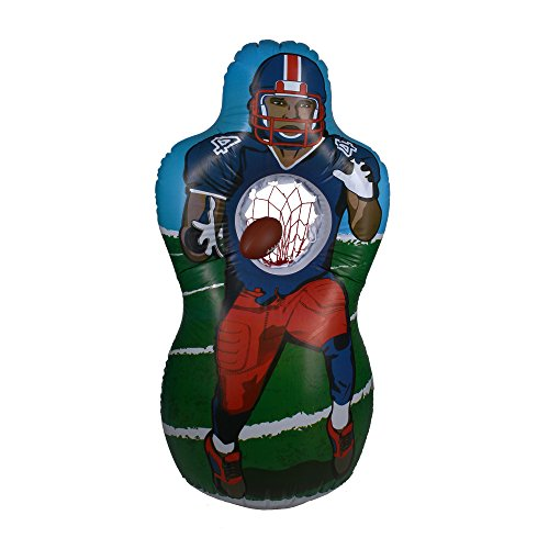 Aufblasbarer American Football Dummy mit Fangnetz + 2 weiche Kunststoffbälle