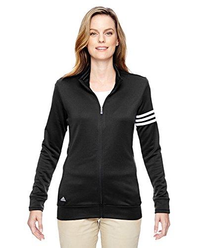 Adidas da donna con strisce con zip giacca pullover Black/ White