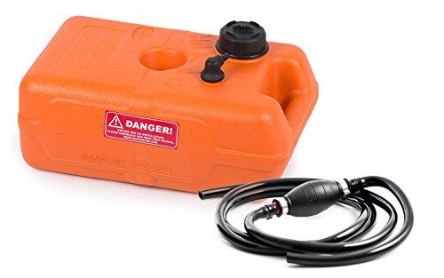 Benzintank Bootstank 12 Liter mit Pumpball und Benzinschlauch 2,15 m (30 Liter-tank)