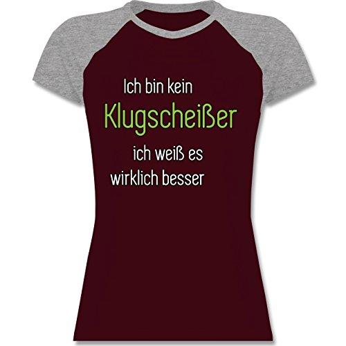 Shirtracer Sprüche - Ich Bin Kein Klugscheißer Ich Weiß ES Wirklich Besser  - Zweifarbiges Baseballshirt/