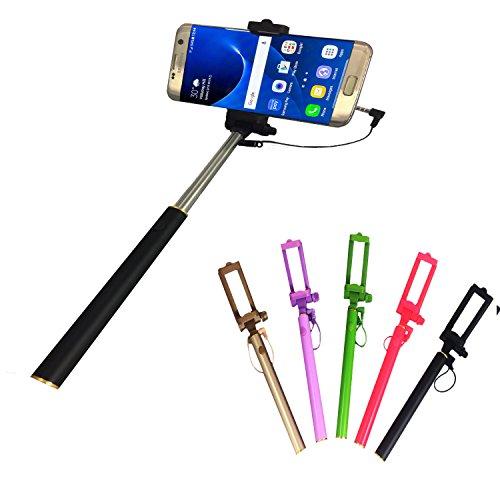Selfie Stick | für MEDION LIFE E5020 | mit integriertem Selbstauslöser | ohne Akku | Mini und Zeitlos | Selfies 1 Schwarz