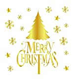 Wandaufkleber XMoments Weihnachten Gold Muster Haushalt Dekorative Art Home Wandbehang Tapisserie Wandverzierung Wanddekor Weihnachtswandaufkleber