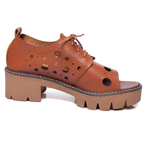 Coolcept Femmes Lacets Sandales brown